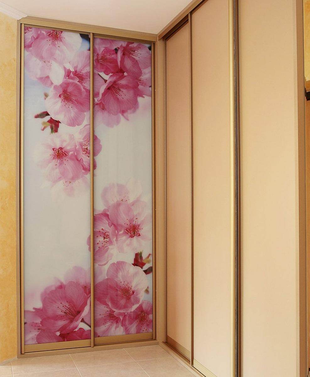 Фотопечать шкафы купе цветы